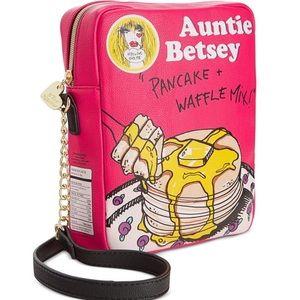 Betsey Johnson Flapjacks Pancake Mix Purse Waffles